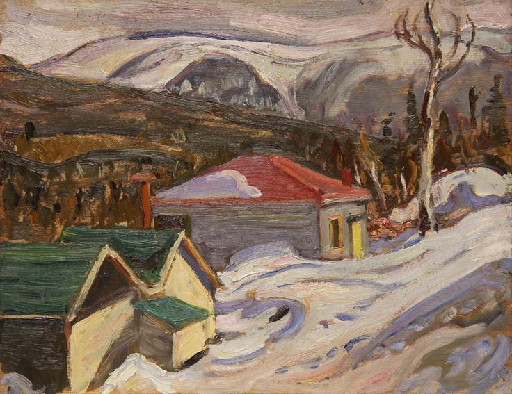 Alexander Young Jackson, 'Winter Quebec' at Mayberry Fine Art 10.5 x 13.5 (1942)