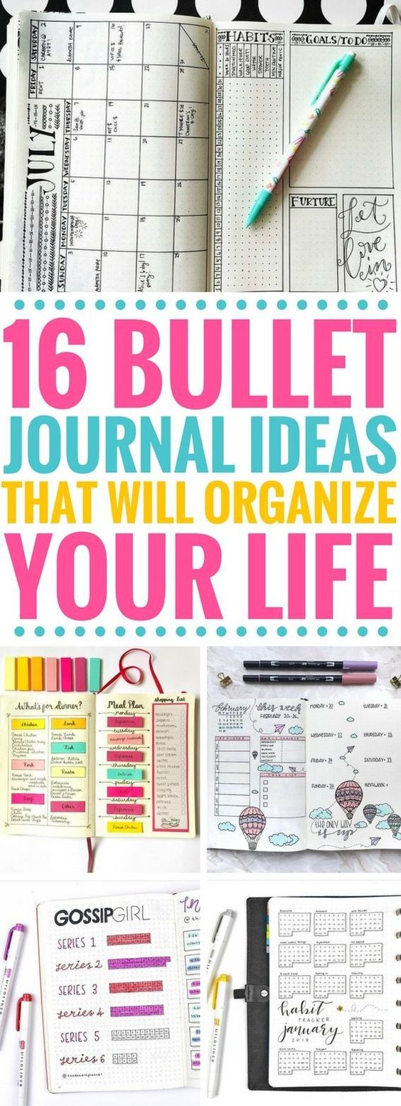 These bullet journal ideas are so incredible! They're really helpful for organizing your life and keeping track of your goals. My favorites are the weekly and monthly spreads. Also, the meal planners are brilliant!