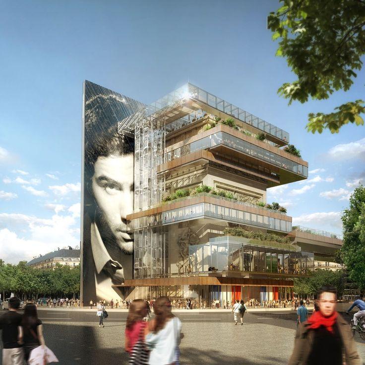 Galeria de Patterlini Benoit propõe edifício de uso misto ao redor do Arco do Triunfo - 1