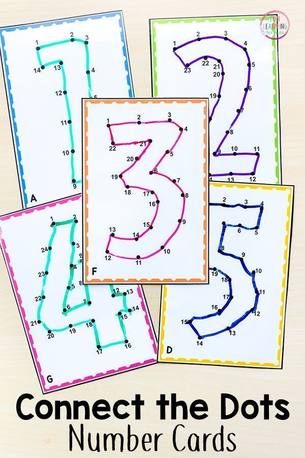 Using Connect the Dots Printables to Teach Numbers