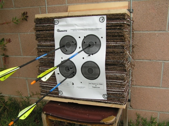 Archery Target - Easy to build and will last a long time. I built one very similar to this with great success.