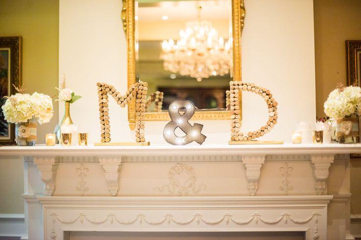 wedding fireplace decoration