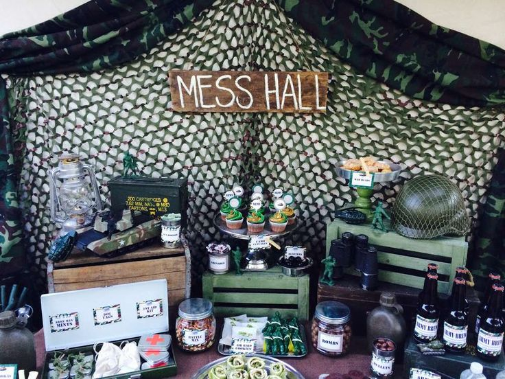 94 best images about military party ideas on pinterest for Army party decoration ideas