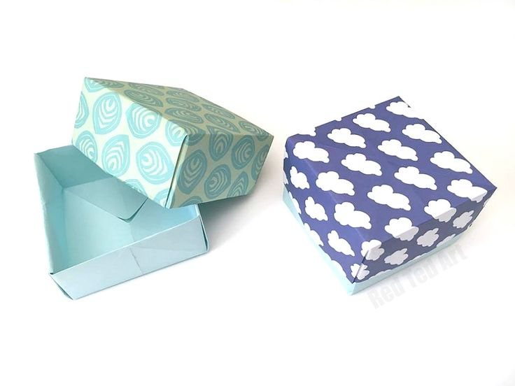 This is one of the easiest Paper Box how tos you can find. The paper box is perfect for a little gift at Christmas or Mother's Day. Origami Paper Box!