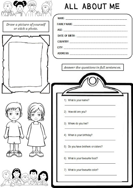enjoy teaching english all about me worksheet i am going to use this next week for my. Black Bedroom Furniture Sets. Home Design Ideas