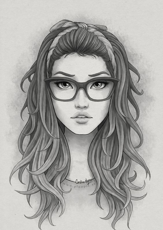 Картинки нарисованные карандашом прикольные девушки