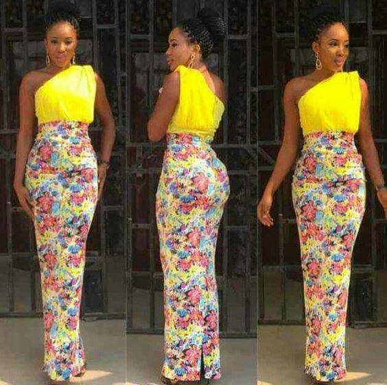 Fitted monostrap maxi dress, bottom is made from Ankara fabric, bodice made from solid colour Ankara fabric  It fastens at the back with a zipper. Fully lined and made from 100% African print cotton. Fabric model has on may not be available.  Buyers will be asked to send me their body measurements as dress is customised for buyer in her exact fit. If in a hurry, buyer can send me Front Bodice Length, Bust, Waist & Hips measurements. I would advise contacting me to get a full list of measu...