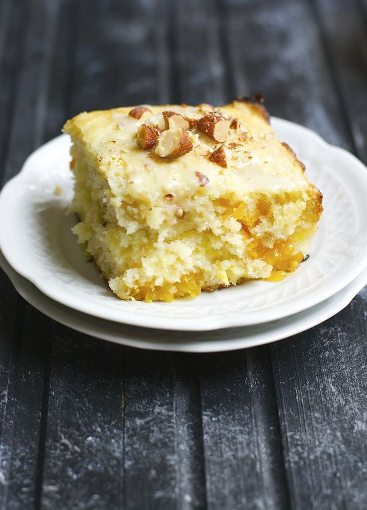Soft and fluffy orange coffee cake is packed with creamy ...