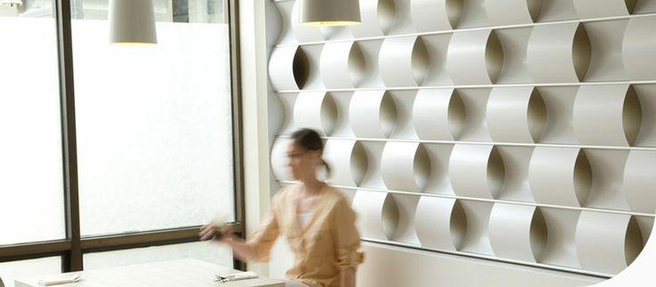 Movin Wall  Paneles Acusticos con formas, movimientos y hasta iluminación perfecto para captar la atención de consumidores visualmente, en cuanto al tacto.