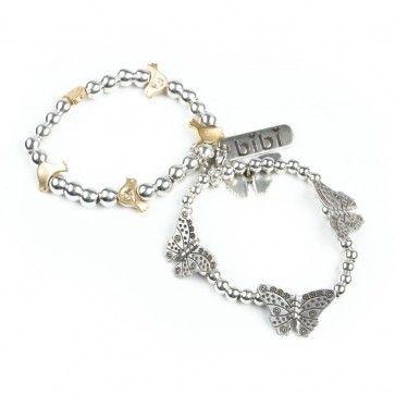 Bibi Bijoux gold birds double charm bracelet