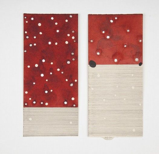 José Antonio Suárez Londoño, Dibujos con renglones - Pareja No 3, 2011, mixed media on paper, 28 x 20 cm