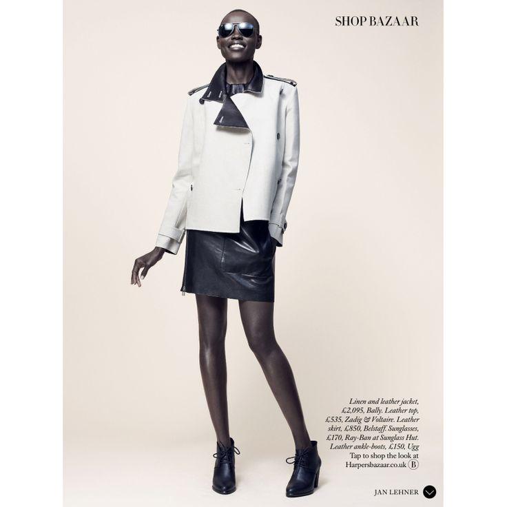 Grace Bol Features In Harper's Bazaar UK March 2015 Editorials.
