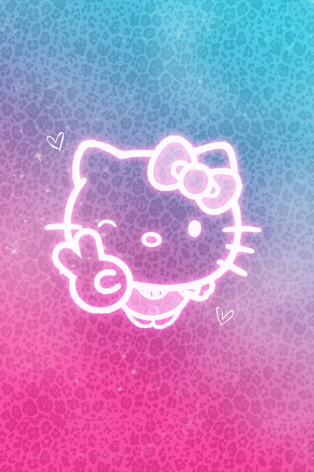 Hello Kitty Pink Cheetah Wallpaper