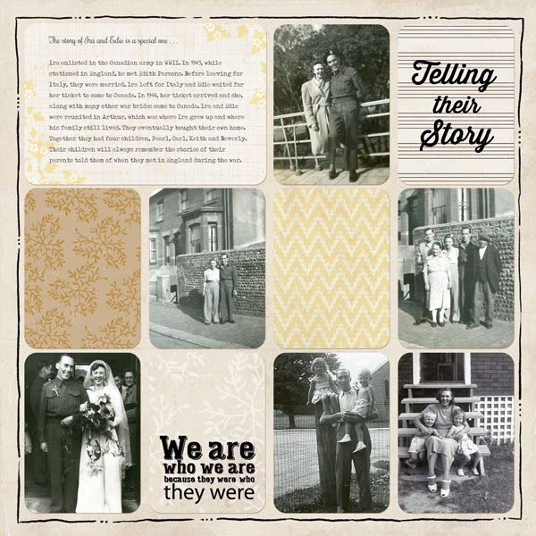 Telling Their Story ~ Simple 'through the years' heritage digi page created with the Heritage Kit available at Digital Project Life.