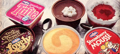 1970's Bird's Eye Deserts - they had to defrost before you could eat them, they were a weekend treat