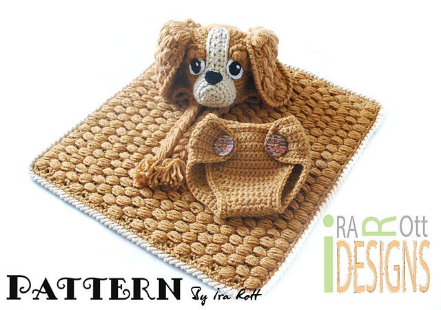 Crochet Dog Hat And Diaper Cover Pattern : 49 best Crochet: Blanket Buddies images on Pinterest