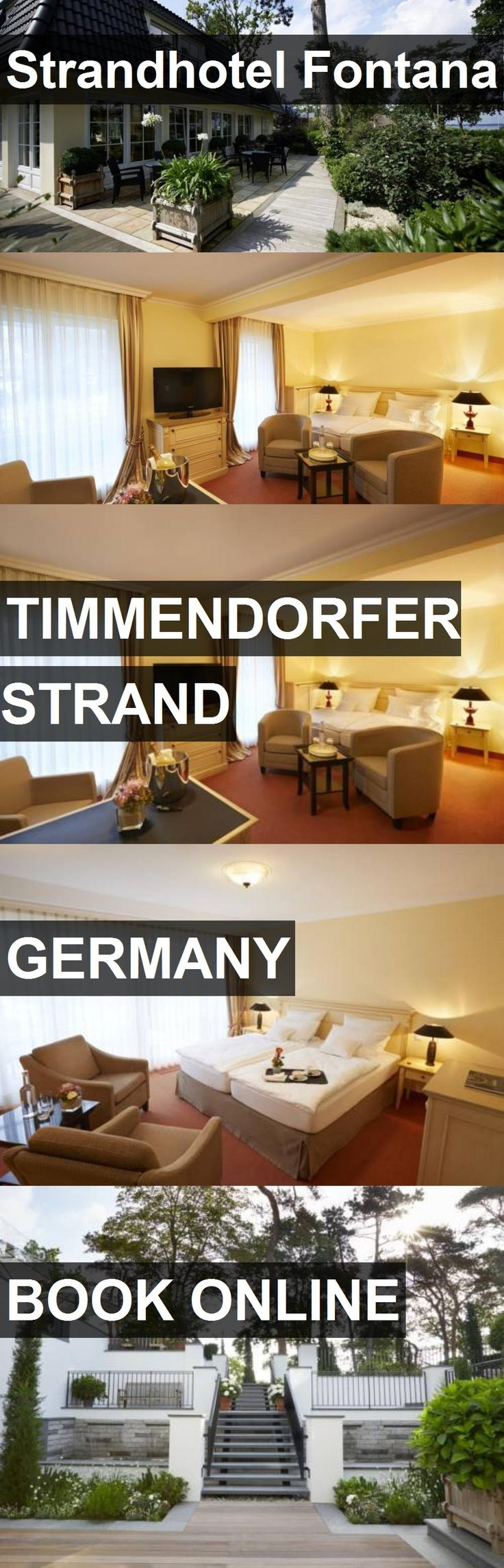 Strandhotel Fontana in Timmendorfer Strand, Germany. For more information, photos, reviews and best prices please follow the link. #Germany #TimmendorferStrand #travel #vacation #hotel