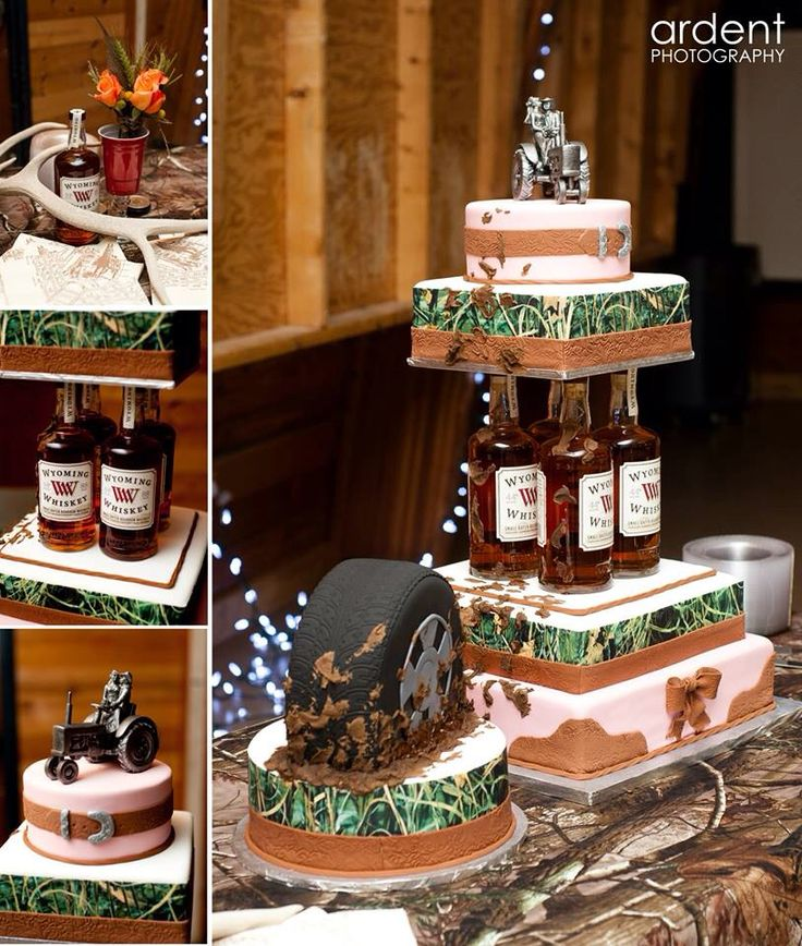 Camo wedding cake.  Redneck wedding cake, country wedding cake, western wedding cake!  One of a kind!