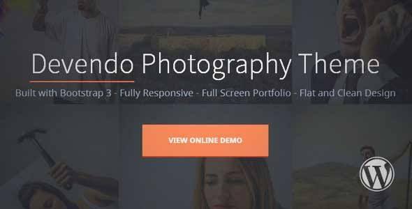 Devendo Photography Wordpress Theme   DOWNLOAD & REVIEW