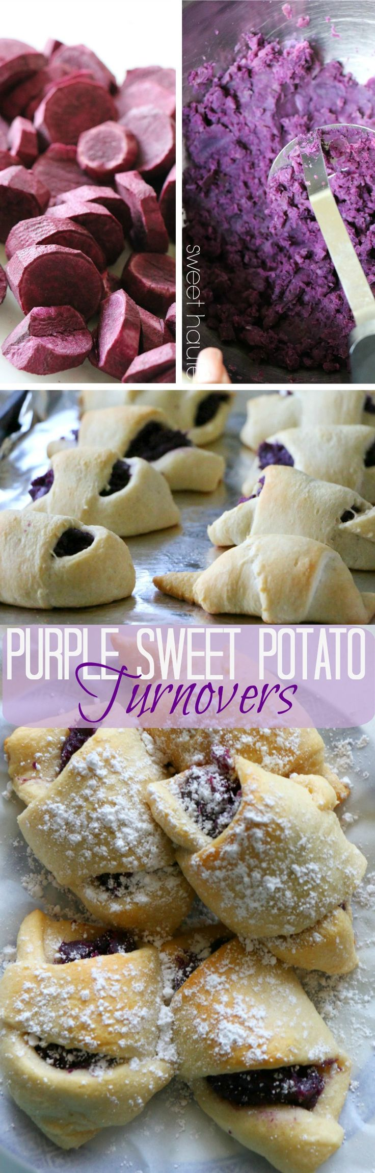 Purple sweet potatoes are rich in nutrients and antioxidants. Make some turnovers with this beautiful superfood today!