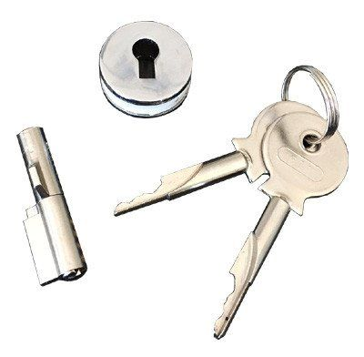 Showcase sliding door lock, plunger lock