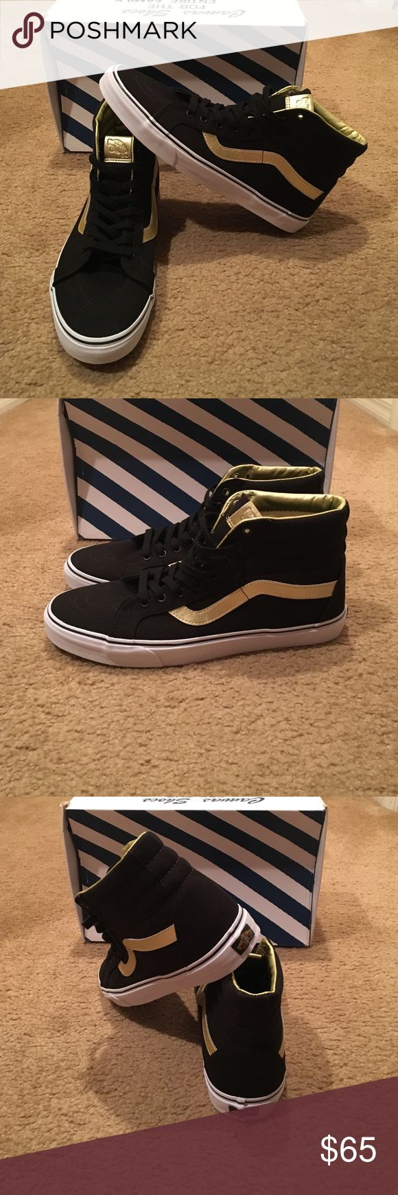 Vans Sk8-Hi Reissue 50th Sneakers VN0004OKJ9A New in box. Unisex. Black/Gold Vans Shoes Sneakers