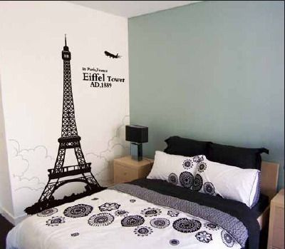 Superb Eiffel Tower Bedroom Theme | Eiffel Tower Wall Decal For Home Decor |