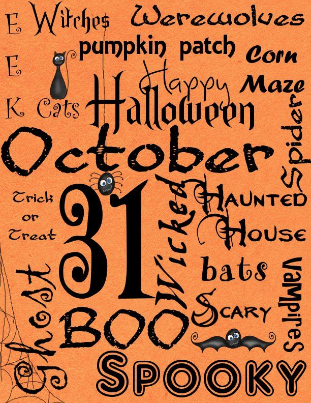 Get Your Crap Together: 31 Days of Halloween: Free Halloween Subway Art Printable