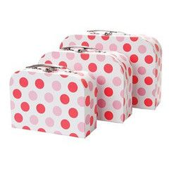 Storage Suitcases Set of Three   Paper Products Online