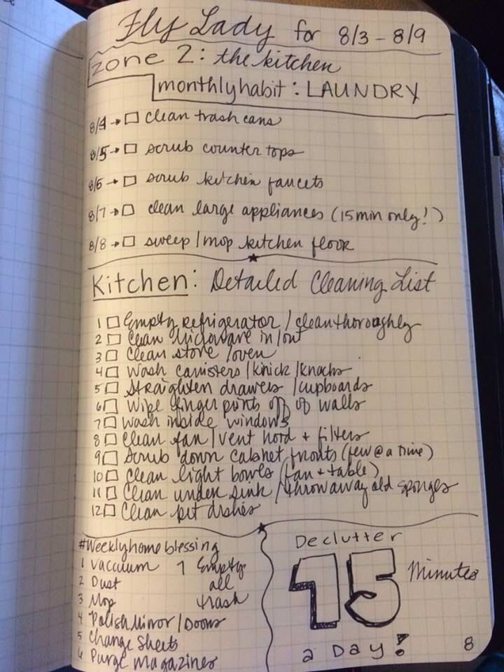 As a Flylady Fan I really like this bullet list   Organize ...