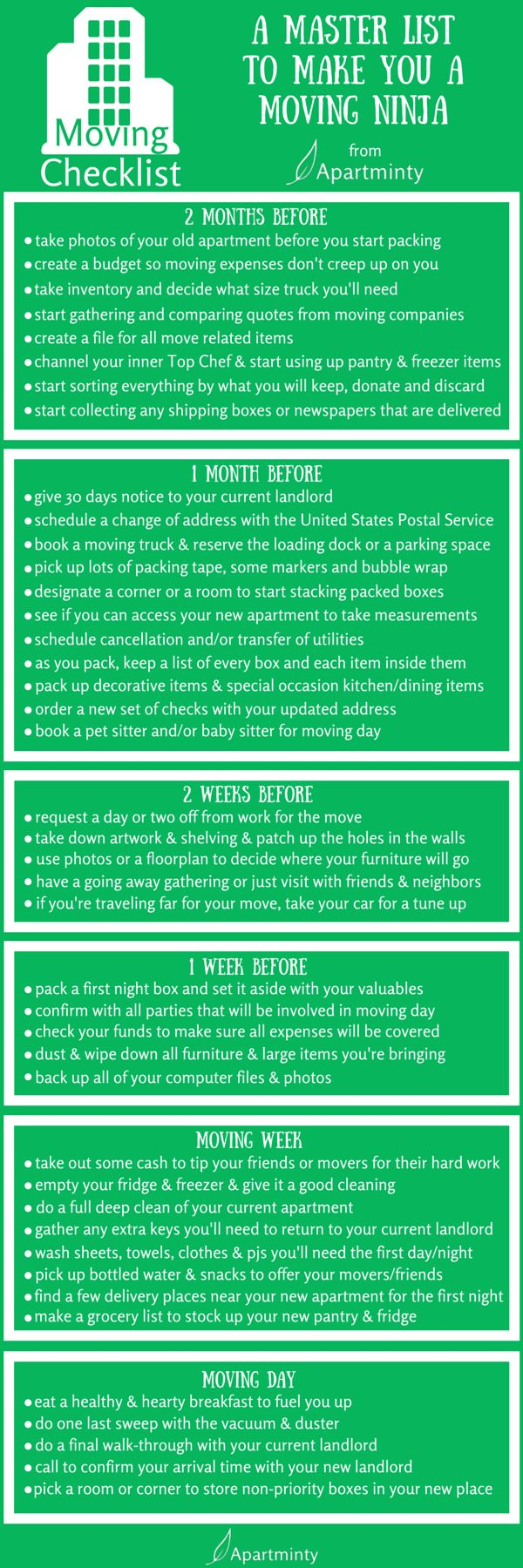 Best Moving House Checklist Ideas On Pinterest Apartment