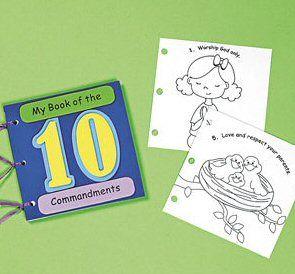 my book of the ten commandments craft kit sunday school 12 pack