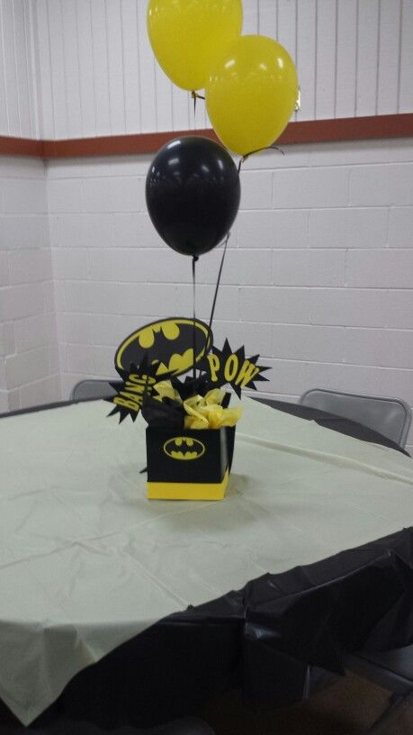 Batman table and centerpiece