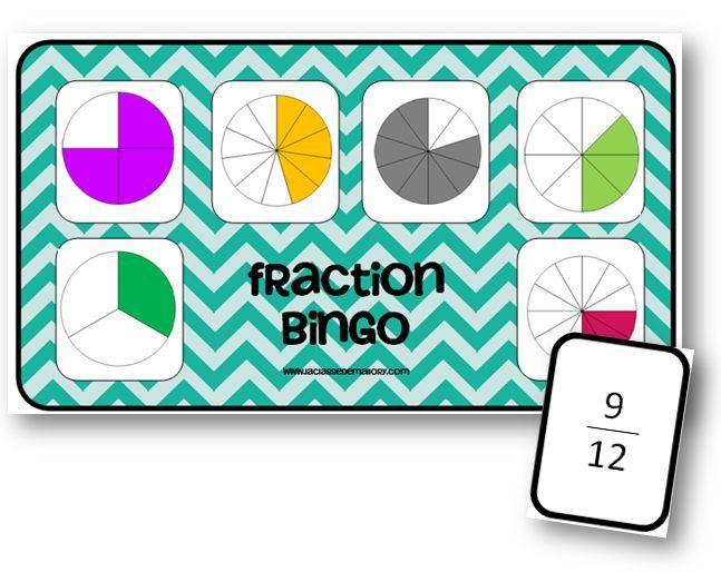 Bingo des fractions - La classe de Mallory - Ressources pour le CM