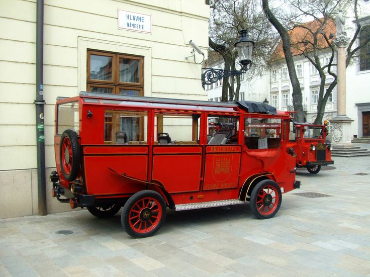 "Tired of walking? This ""Oldtimer"" will take you through the picturesque streets and corners of #Bratislava's Old Town."