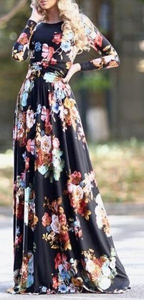 Amazing! Love the floral that is not too overwhelming, the scrunching at the waist is flattering and the neckline is great for this style.