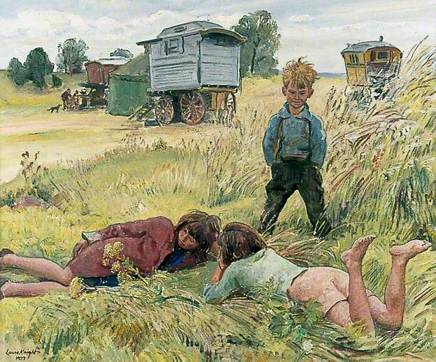 Young Gypsies . Laura Knight