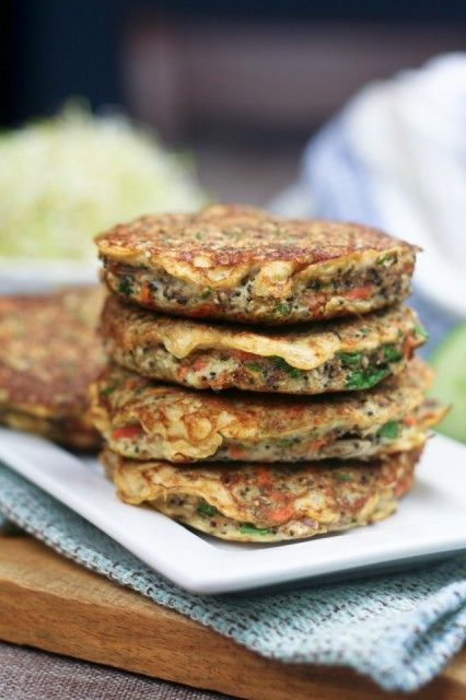 Cauliflower Fritters | by Sonia! The Healthy Foodie *replace the eggs with your fave vegan egg substitute for a vegan version