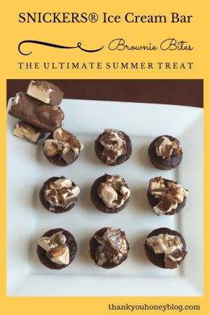 SNICKERS® Ice Cream Bar Brownie Bites Dessert Recipe by Thank You Honey