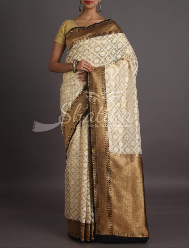 Naira Self-Weave Design Orante Border Pallu Banarasi Organza Silk Saree