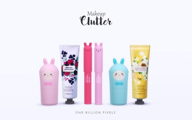 Makeup Clutter by NewOne at One Billion Pixels via Sims 4 Updates