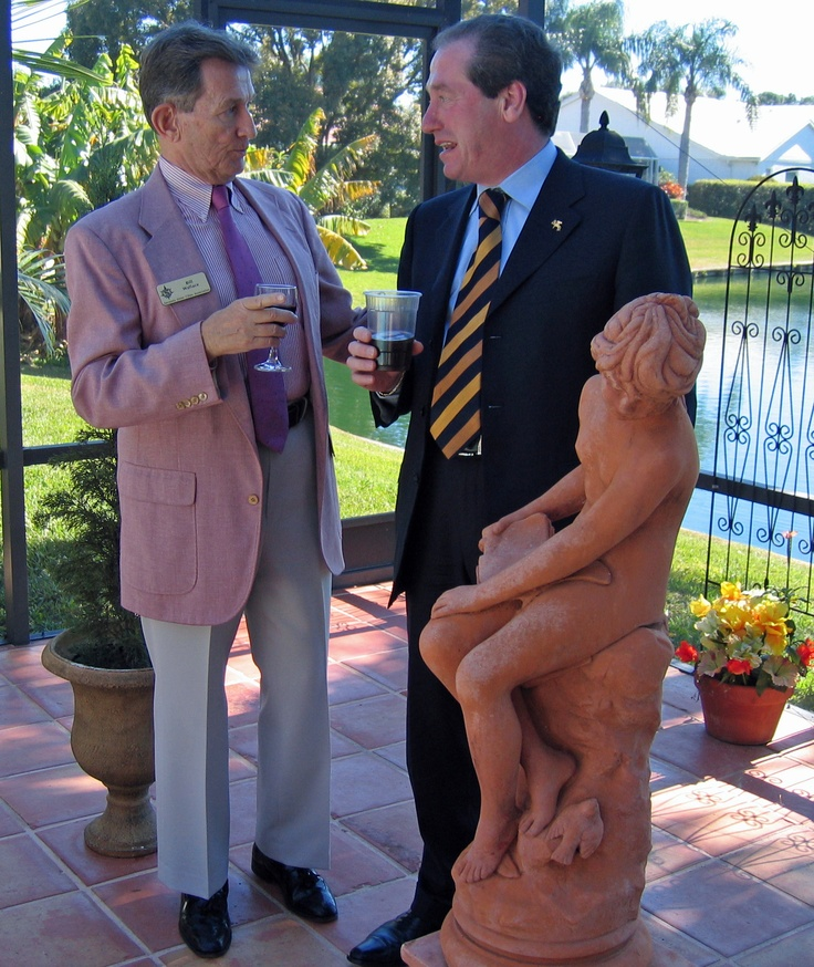 Bill Wallace & Treviso President Leonardo Muraro at the home of Dr. Joseph Polizzi during the reception for the Treviso delegation in February 2007