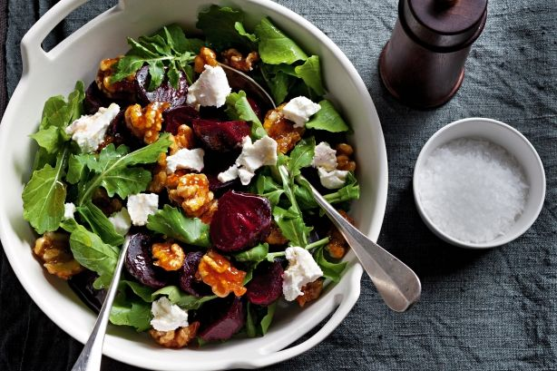 Candied walnuts and sharp goat's cheese make this salad a standout.