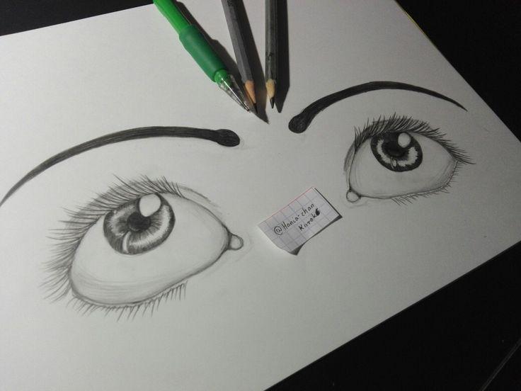 Too fast drawned eyes