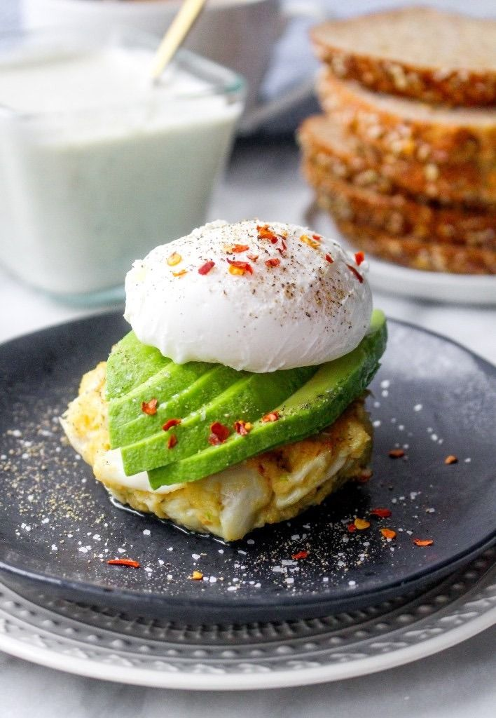 Get crabby for dinner with these 14 crab recipes, like Crab Cake Stacks With Poached Eggs, Avocado, and Tartar Sauce Drizzle.