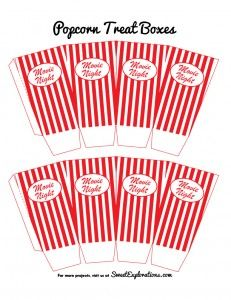 17 Best Images About Printable Popcorn Cups On Pinterest