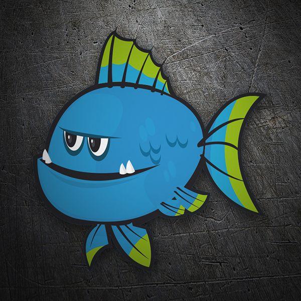 Pegatinas: Pez azul #skate #surf #pegatina #sticker