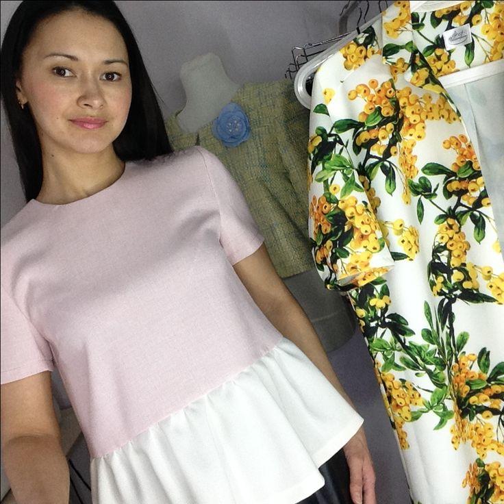 #blouse Блуза с воланом. Под заказ. Ателье Шангарель
