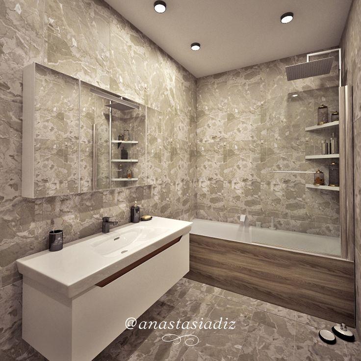 В России и заграницей естественным процессом при отделке и ремонте является оформление плиткой ванной комнаты. Но именно выбор плитки создает некие неудобства хозяевам жилья. Мы можем подобрать изящные варианты отделочного материала, который отличается надежностью и подчеркивает индивидуальность помещения. Создание такого проекта гарантирует заказчикам удобство, комфортабельность, качество отделки нового интерьер #русскиедизайнеры #инстаграм #стиль #красота #дизайнстудия #дизайнпроект…
