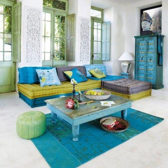 Kimimoi, divano angolare multicolor